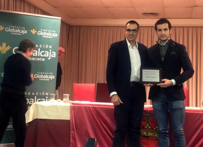 Andrés Palacios, premiado por sus paisanos en Madrid