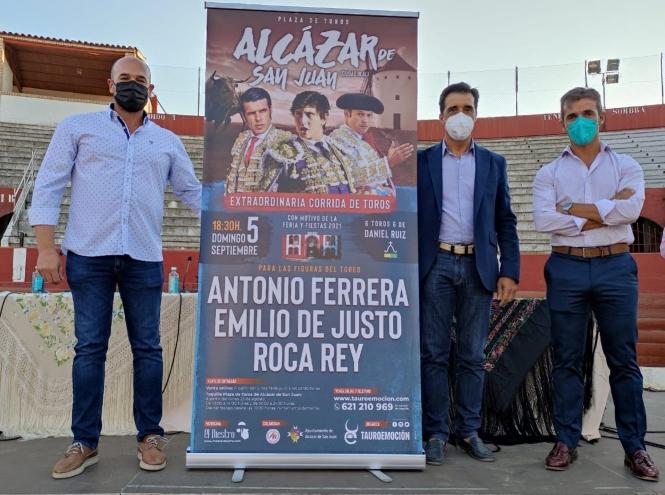Ferrera, De Justo y Roca Rey, en Alcázar de San Juan