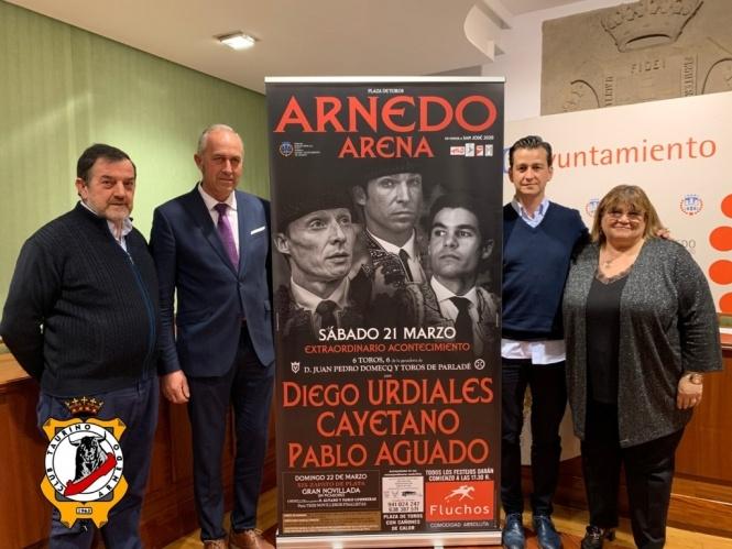 Urdiales, Cayetano y Aguado harán el paseíllo en Arnedo