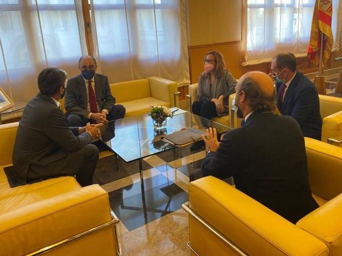 La Fundación se reúne con el presidente de Aragón